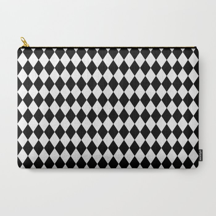 Classic_Black_and_White_Harlequin_Diamond_Check_CarryAll_Pouch_by_KirstiePaige__Large_125_x_85