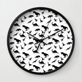 Dino pattern Wall Clock