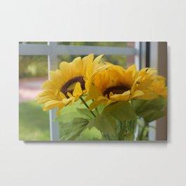 fake flowers Metal Print