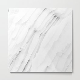 White Marble Edition 1 Metal Print
