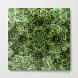 SEA FOAM FROTHY BLUE-GREEN SUCCULENTS Metal Print