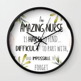 Amazing Nurse Appreciation Thank you Note Wall Clock