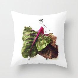 Edible Ensembles: Chard Throw Pillow