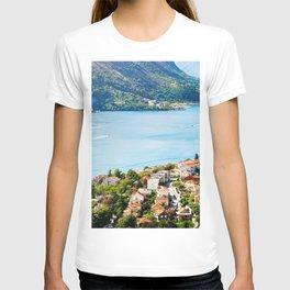 Kotor Bay summer sea Kotor Boka Kotorska Montenegro T-shirt