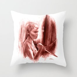 Homage to Rosemary's Baby Throw Pillow
