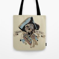 goonies Tote Bags featuring One Eyed Willy Never Say Die - The Goonies by MarcoMellark