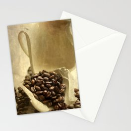 Coffee break in the morning time  Stationery Cards