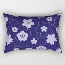 Sakura blossom - midnight blue Rectangular Pillow