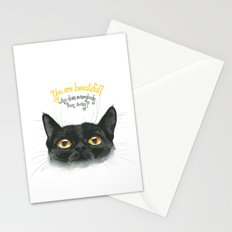 Black - Cat Stationery Cards