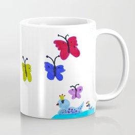 Queen Ducks   Drawing Coffee Mug