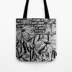Black and White Palm Flowers by my Mom Tote Bag
