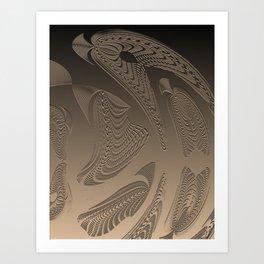 Smooth Aboriginal Geometric Spirit Art Print