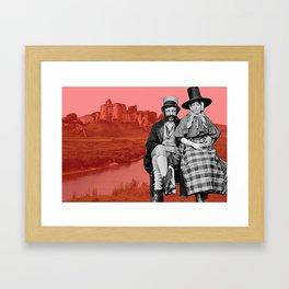 Golwg Hanesyddol Kidwelly Framed Art Print