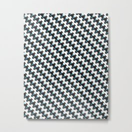 Massaging Kitties Houndstooth Pattern Metal Print