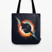 ed sheeran Tote Bags featuring Void (introversive ed) by Picomodi