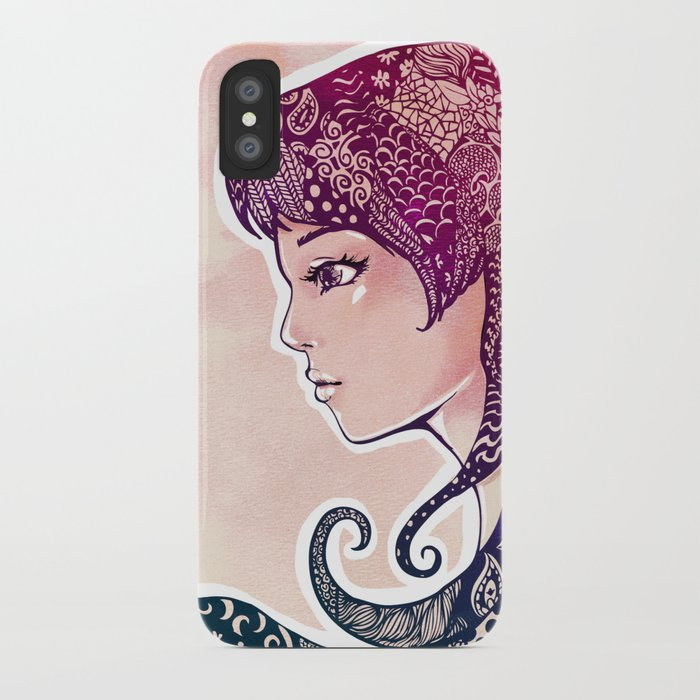 Decorated Hair Girl iPhone Case