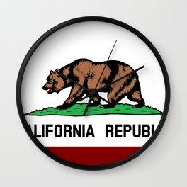 California Flag Wall Clock