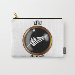 New Zealand Proud Flag Button Carry-All Pouch