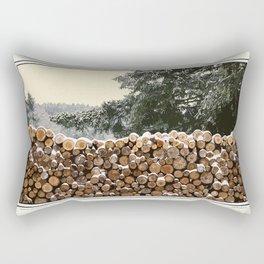 MILD WINTER FIREWOOD Rectangular Pillow