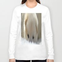 shiba inu Long Sleeve T-shirts featuring Shiba Inu Puppy by Blue Lightning Creative