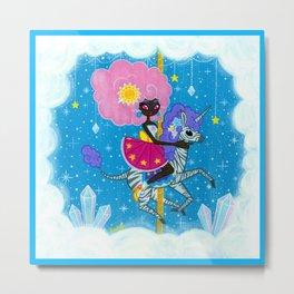 Sunshine and Sparkles -Crystal Cloud Carousel Metal Print