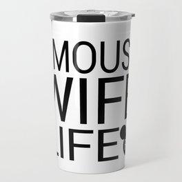 #MOUSEWIFELIFE BLACK Travel Mug