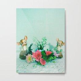 Spring Fawns Metal Print