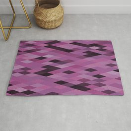 Muted Berry Color Harlequin Pattern Rug