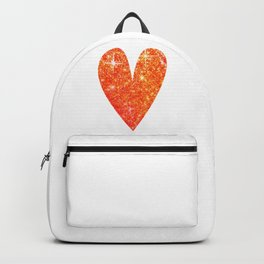 sparkly heart Backpack