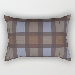 Brown and Blue Tartan Rectangular Pillow