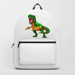 Dinosaur T Rex Pizza Backpack