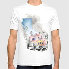 Venice CA MEDIUM Mens Fitted Tee White