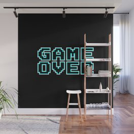 GAME OVER (blue) Wall Mural