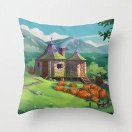 The Pumpkin Hut Throw Pillow