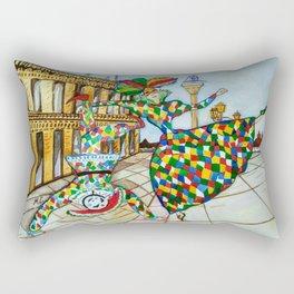 Arlecchino and Colombina. Carnival of Venice. Rectangular Pillow