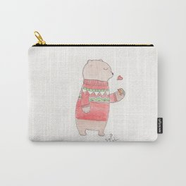 Bear and Robin Carry-All Pouch