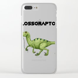 Floss Flossoraptor Hygiene Dental Funny -Dentist Gift Clear iPhone Case
