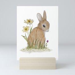 Rabbit Among the Flowers Mini Art Print