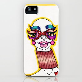 JennyMannoArt Colored Illustration/Sheila iPhone Case