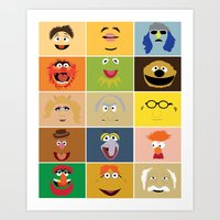 muppets Art Prints featuring We Are the Muppets by Fries Frame