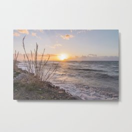 "Sicily, at sunset... that ""smell"" of saltiness.... Metal Print"