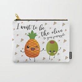 Pineapple and Olive Pizza Confetti Carry-All Pouch