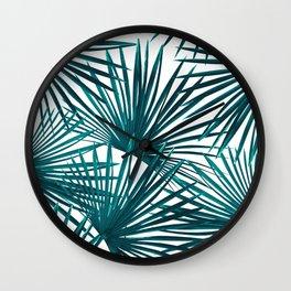 Tropical Fan Palm Leaves #3 #tropical #decor #art #society6 Wall Clock