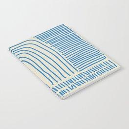 Digital Stitches thick beige + blue Notebook