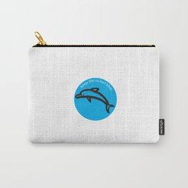 Keep the Ocean Blue_Dolphin_C Carry-All Pouch