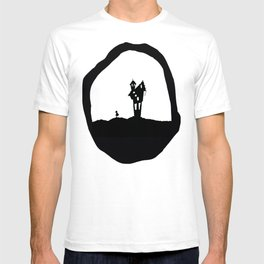 Little Red Riding Hood Enchanted House Fairy Tale Storybook Haunted house Spooky illustration T-shirt