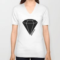 lorde V-neck T-shirts featuring Royals by latiife