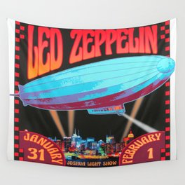 LedZeppelin live at the Filmore east Concert Poster Wall Tapestry