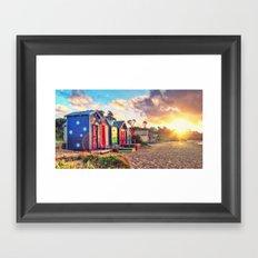 Aussie Beach Life Framed Art Print