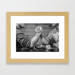 mens battle Framed Art Print